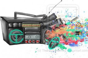 exploding_radio_by_themildmildwest1